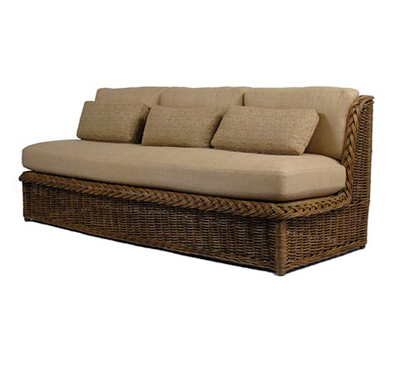 Classic Armless Sofa : Sofas : Style : Indoor Furniture : The Wicker ...